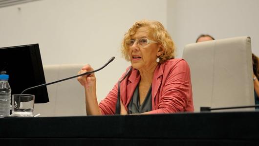 Manuela Carmena en el Pleno del Ayuntamiento / AYTO DE MADRID